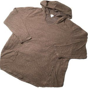 Purejill XL Brown 100% Cotton Hoodie Sweater
